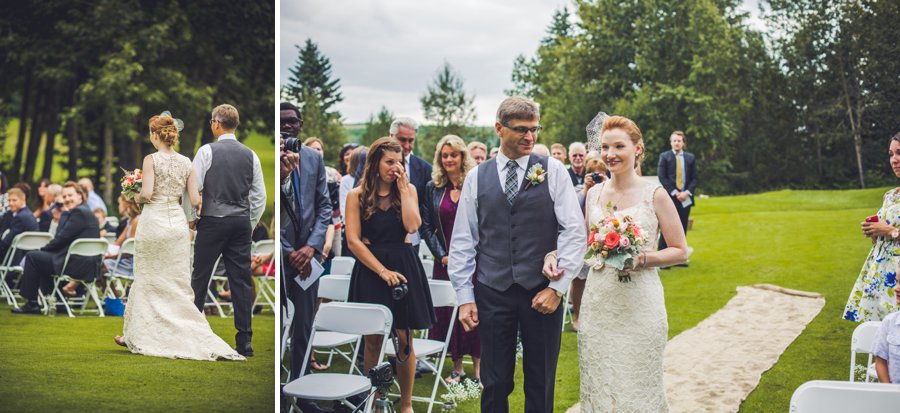 elbow springs golf club calgary wedding photographer anna michalska bride walking down aisle