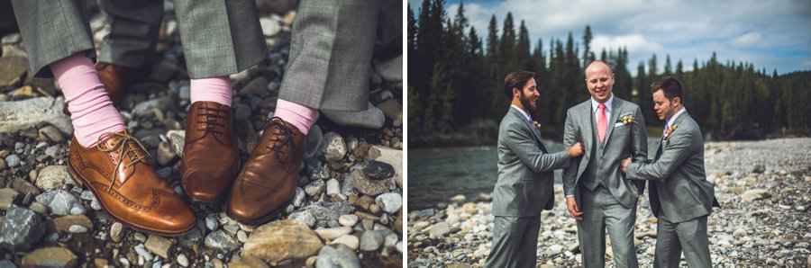 groom pink socks brown leather loafers calgary wedding photographer anna michalska