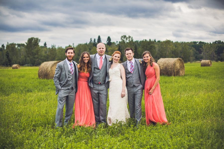 bridal party stormy clouds calgary wedding photographer anna michalska