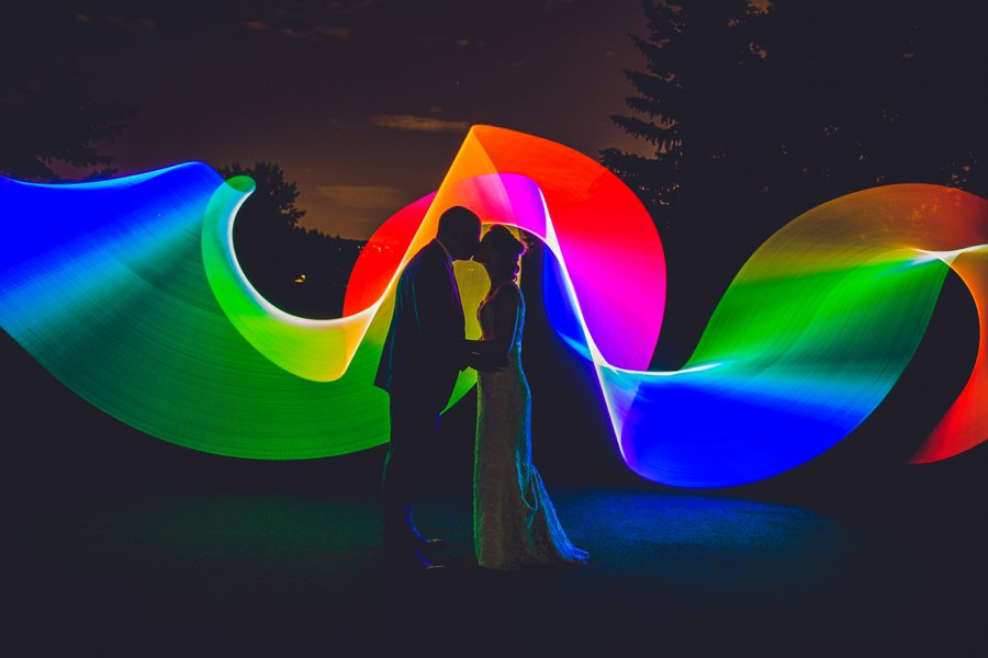 wedding pixelstick rainbow elbow springs golf club calgary wedding photographer anna michalska