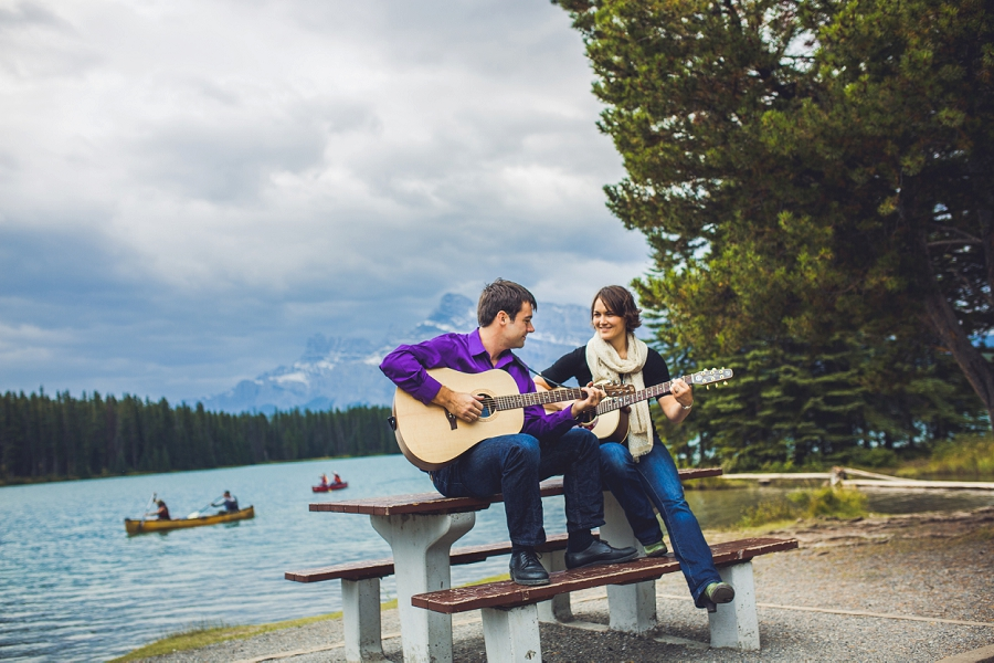 ashel + jonathan { fall banff engagement session }