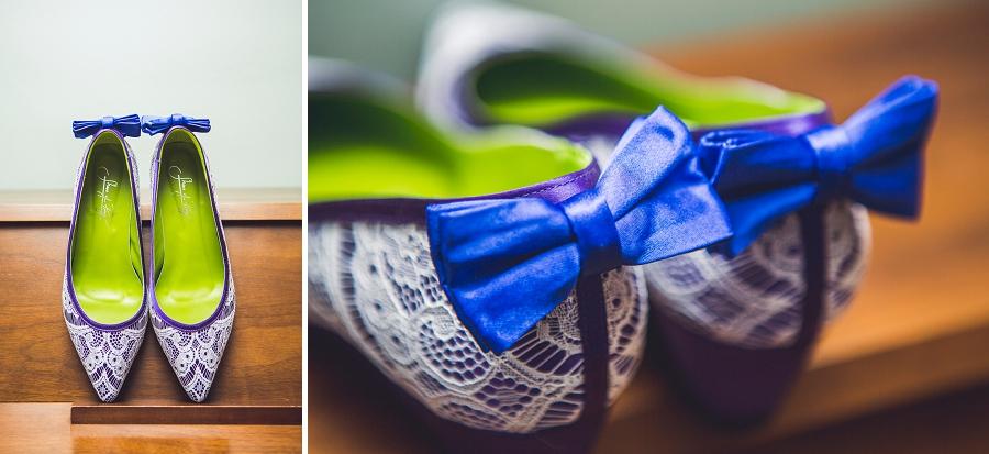 blue bow bride shoes calgary wedding photographer anna michalska
