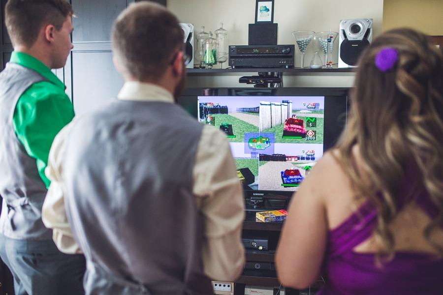 bridal party video games calgary wedding photographer anna michalska