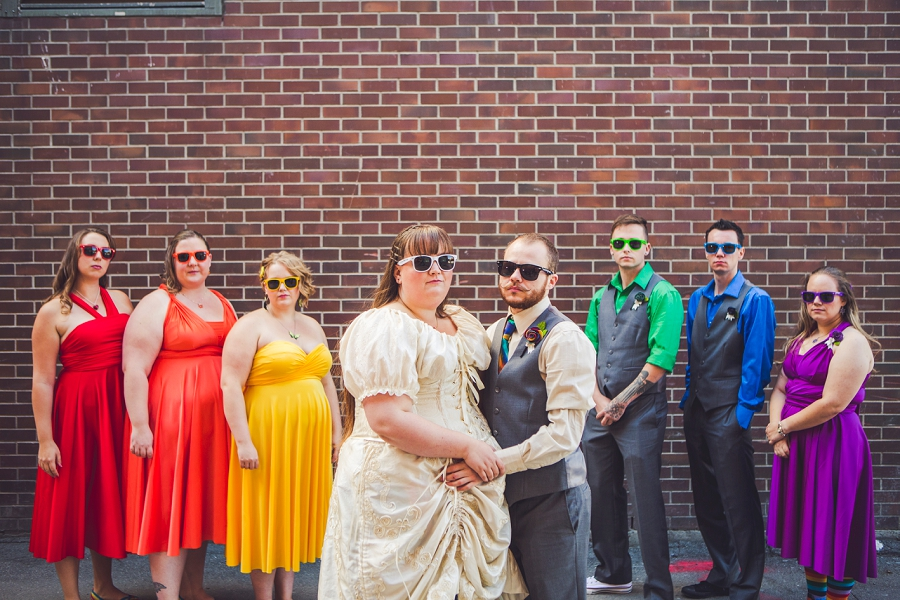 rainbow wedding bridal party calgary wedding photographer anna michalska