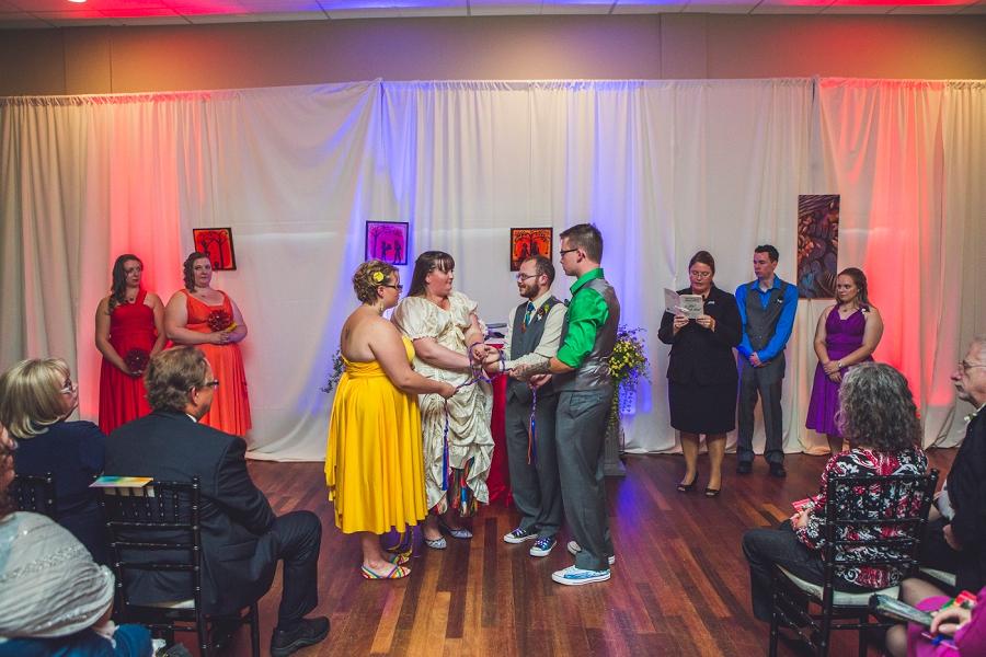 rainbow wedding celtic wedding knot calgary wedding photographer anna michalska