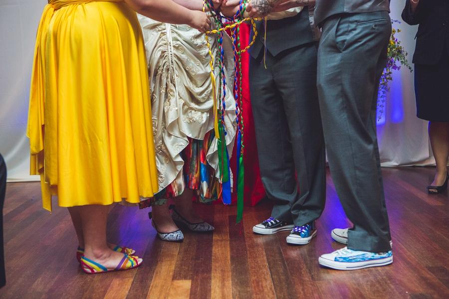 rainbow celtic wedding knot calgary wedding photographer anna michalska