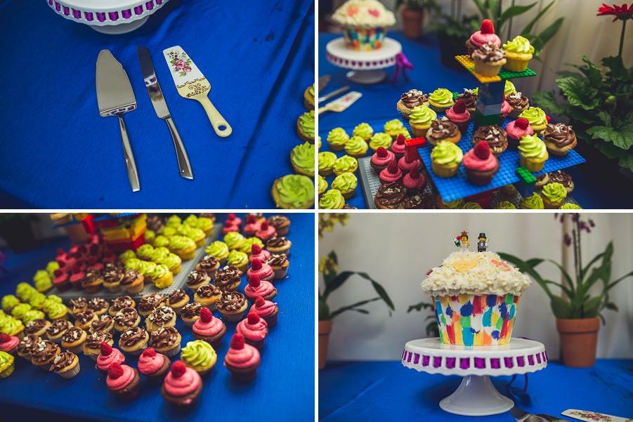 lego rainbow wedding cake cupcakes calgary wedding photographer anna michalska