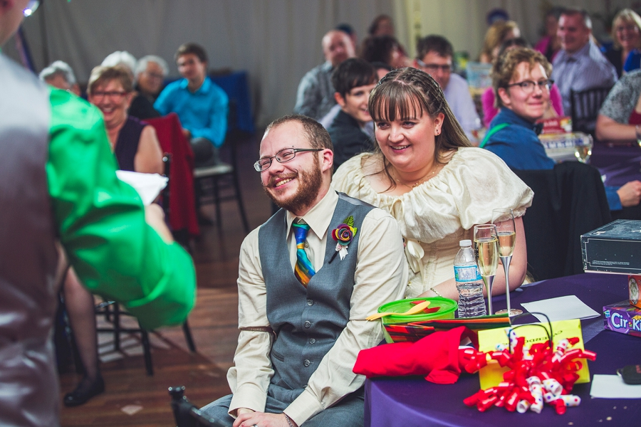 groom laughing calgary wedding photographer anna michalska