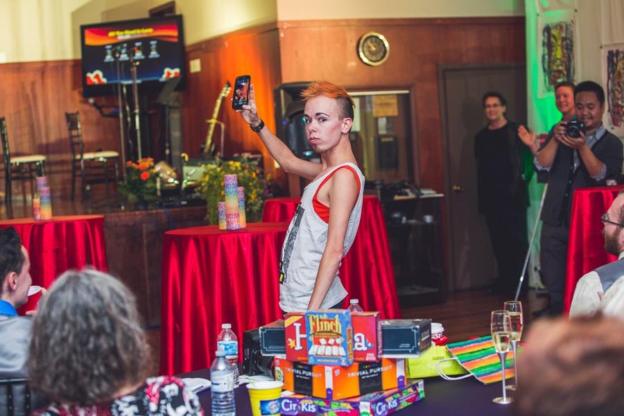 selfie drag king show calgary wedding photographer anna michalska