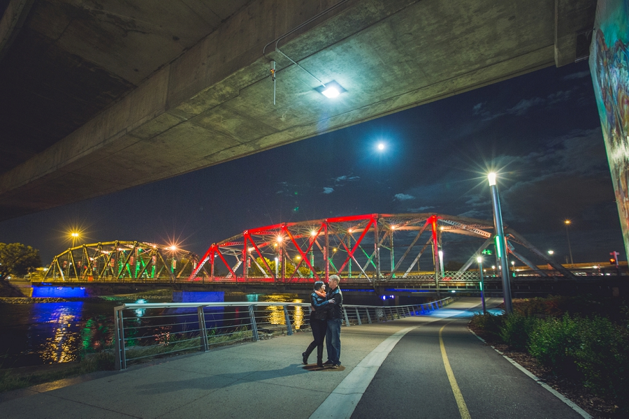 4th street bridge summer engagement session calgary wedding photographer anna michalska