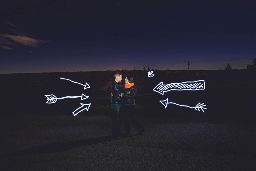 pixelstick arrows summer engagement session calgary wedding photographer anna michalska