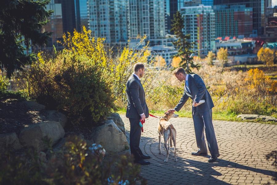 downtown calgary elopement wedding photographer anna michalska greyhound