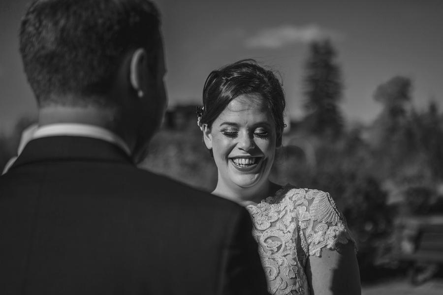 bride laughing downtown calgary elopement wedding photographer anna michalska