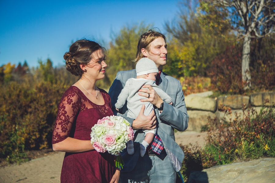 bridal party baby downtown calgary elopement wedding photographer anna michalska