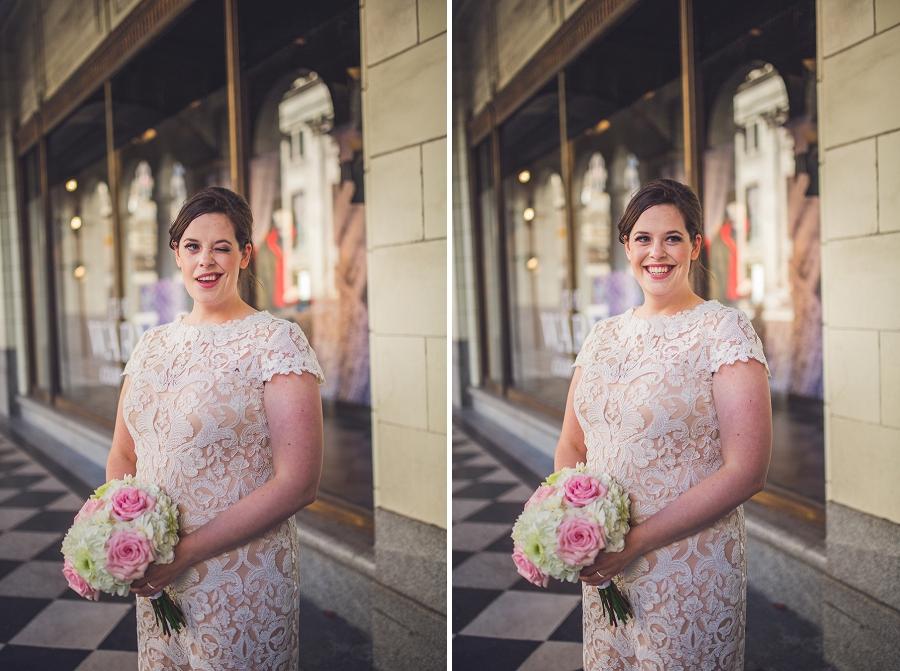 bride winking calgary wedding photographer anna michalska