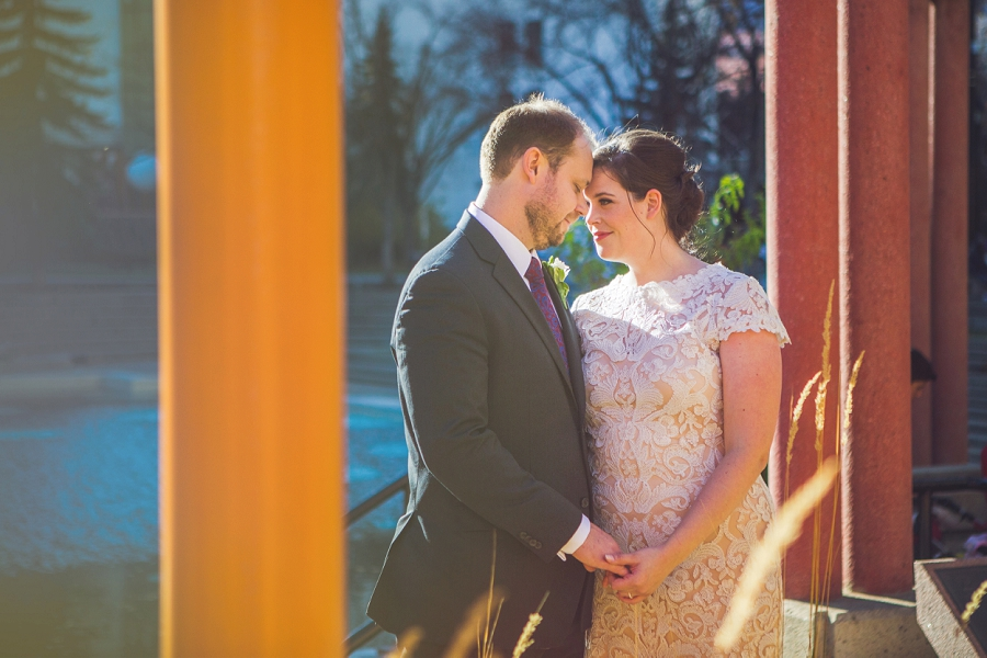 bride groom olympic plaza calgary wedding photographer anna michalska