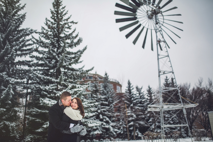 winter engagement photos calgary engagement photographer anna michalska eau claire windmill