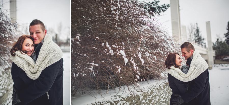 large scarf winter engagement photos calgary engagement photographer anna michalska
