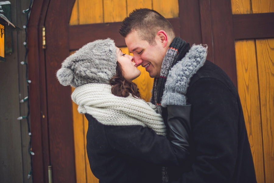kiss on the nose winter engagement photos calgary engagement photographer anna michalska