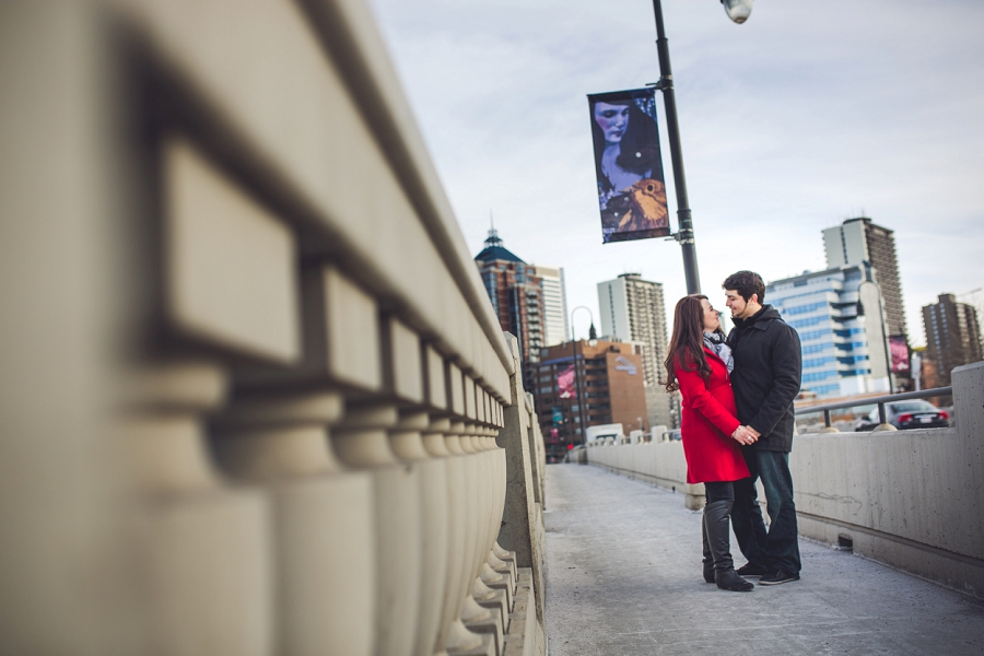 calgary kensington louise bridge engagement photos anna michalska