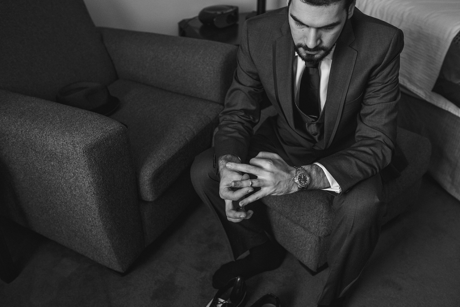 groom black and white wedding band multicultural islamic wedding in calgary photographer