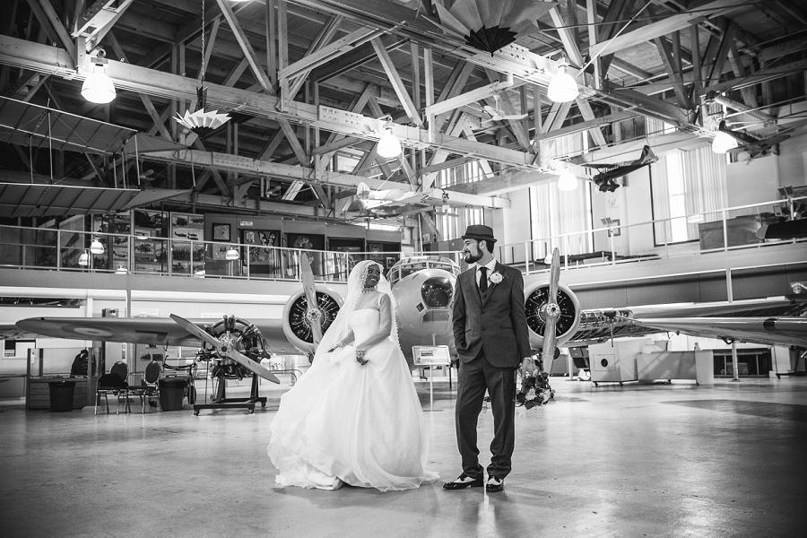 calgary aerospace museum wedding bride groom multicultural islamic wedding in calgary photographer
