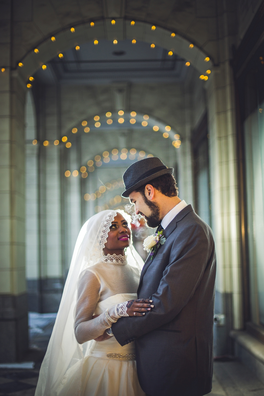 bride groom winter the hudsons bay multicultural islamic wedding in calgary photographer