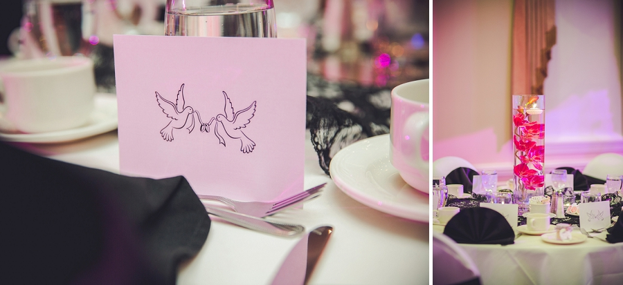wedding reception decor pink orchids multicultural islamic wedding in calgary photographer ramada plaza hotel