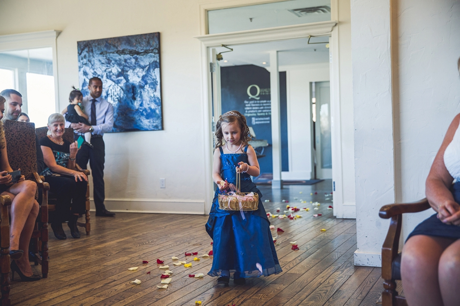 flower girl dark blue dress q haute cuisine calgary wedding photographer