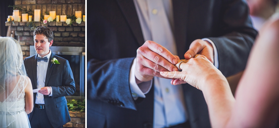 exchange of vows and rings q haute cuisine calgary wedding photographer