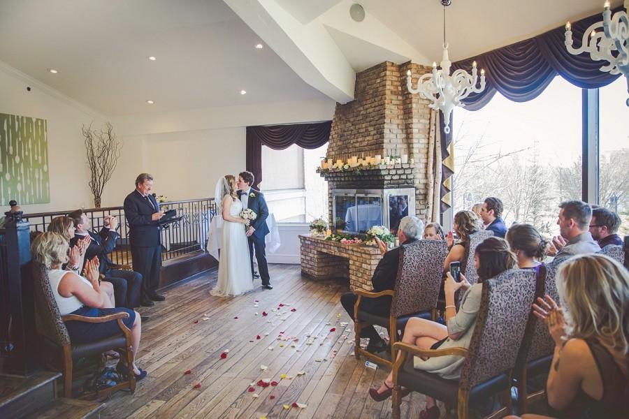 jenna + kevin { q haute cuisine calgary wedding }