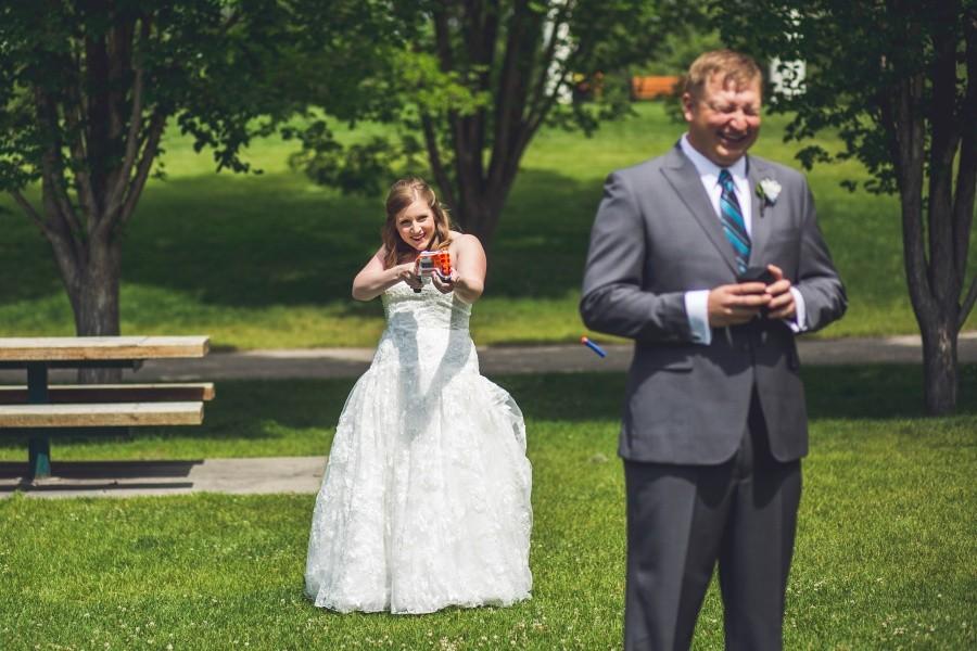 Michaela + Ryan   Wedding Nerf Gun Fight!