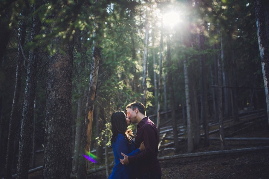 beatriz + shaun { banff coffee shop engagement photos }