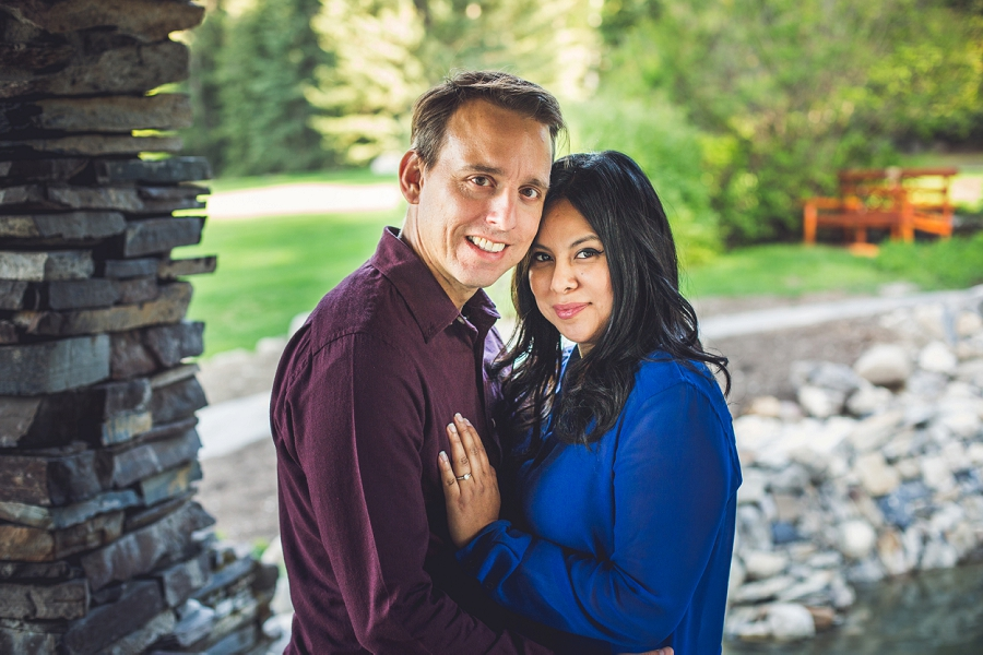 engagement session banff cascade gardens