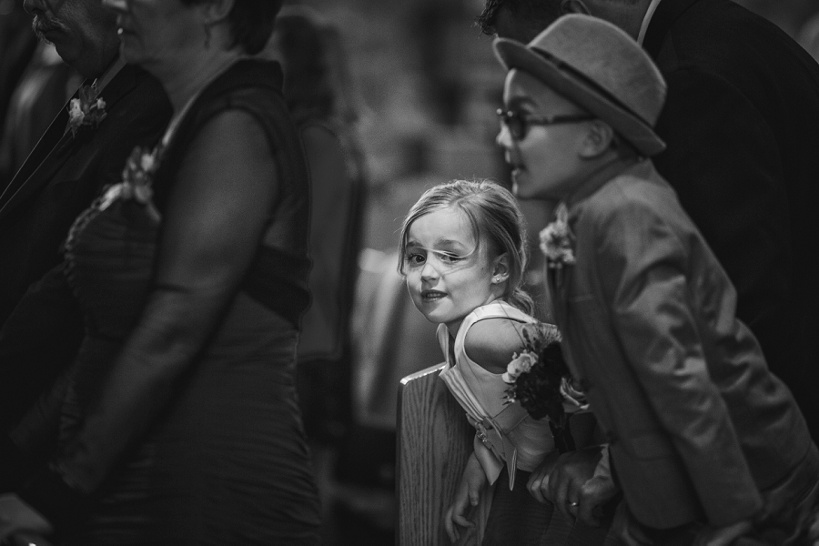 flower girl at wedding ceremony st. anthony's parish calgary wedding photography pi day