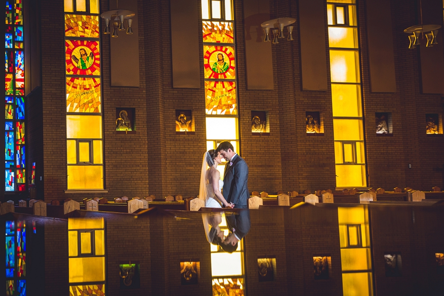 bride groom reflection photo st. anthony's parish calgary wedding photography pi day