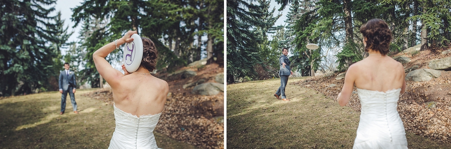 reader rock gardens calgary wedding photography pi day frisbee