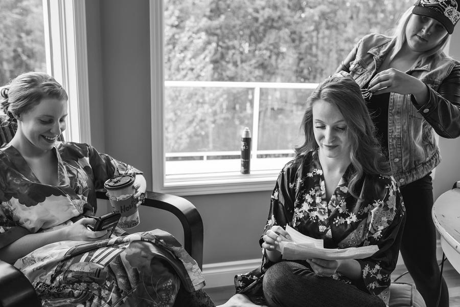 silk kimonos bride getting ready calgary wedding anna michalska