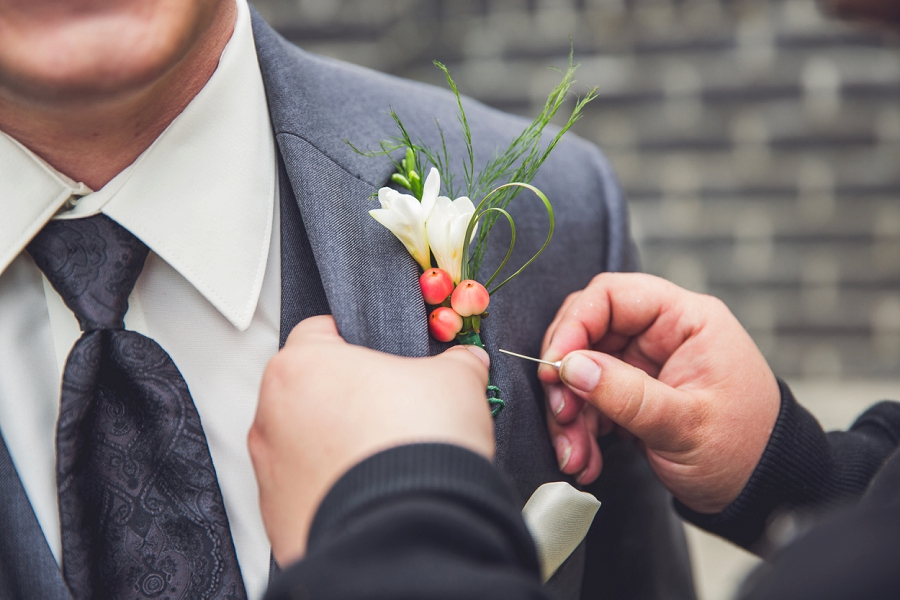 groom boutonniere calgary wedding