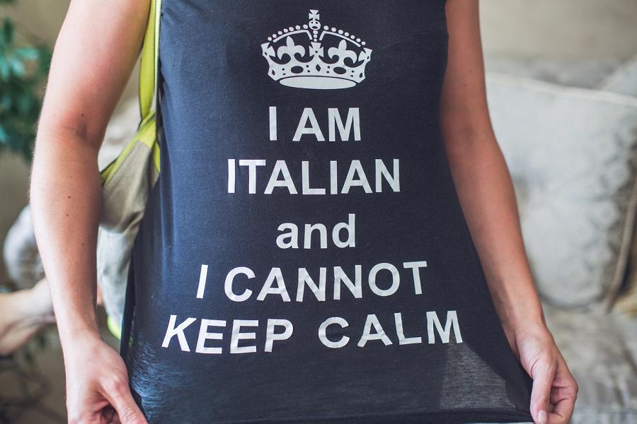 i am italian and i cannot keep calm shirt