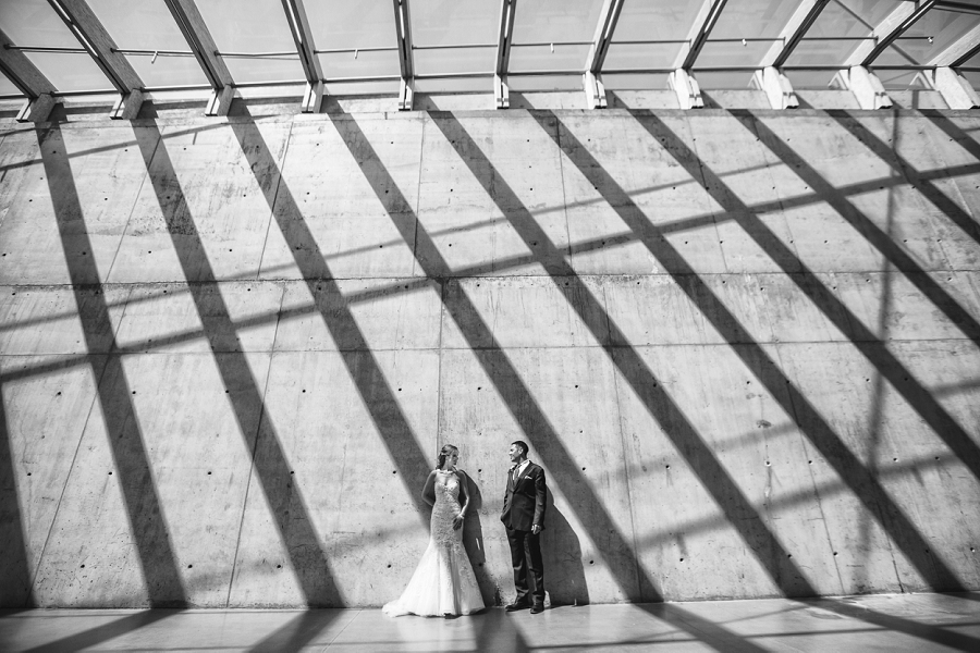 calgary wedding sait parking lot bride groom