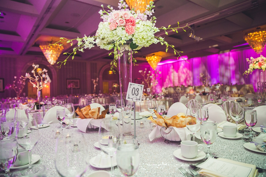 pink decor carriage house inn calgary wedding reception