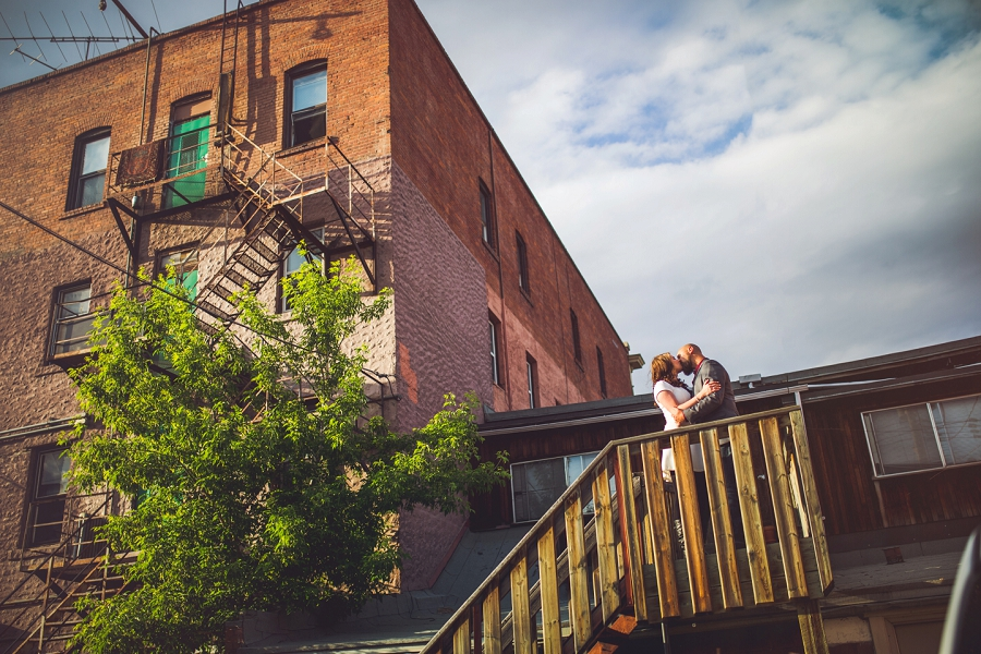 calgary inglewood engagement session brick building