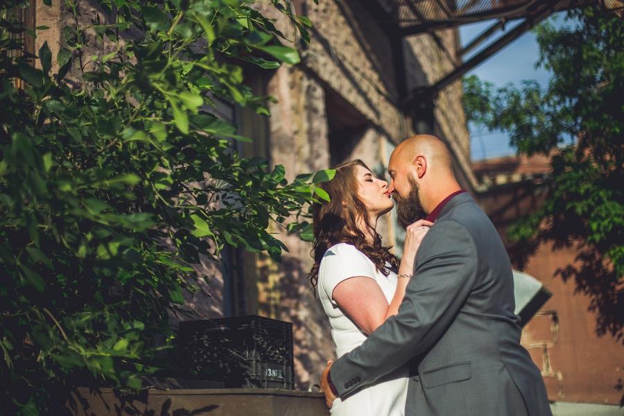 calgary inglewood engagement session kiss on nose