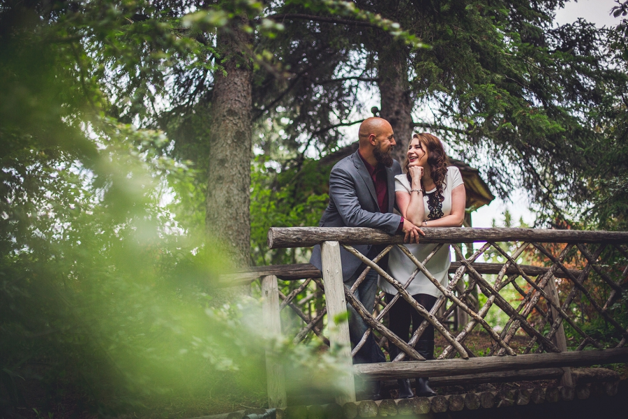 reader rock garden calgary engagement session
