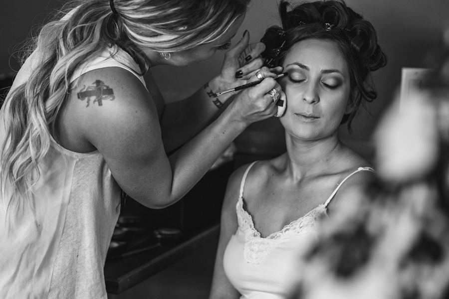 wind tower hotel canmore bride makeup artist photography