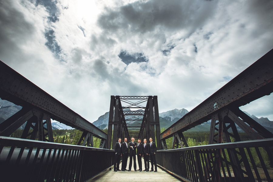 engine bridge canmore groom groomsmen