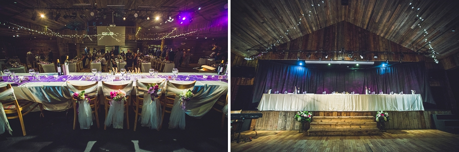 cornerstone theatre canmore wedding head table