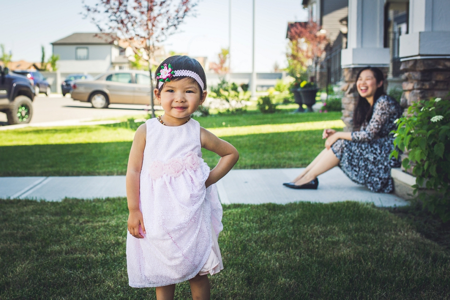 calgary family photography little girl being sassy