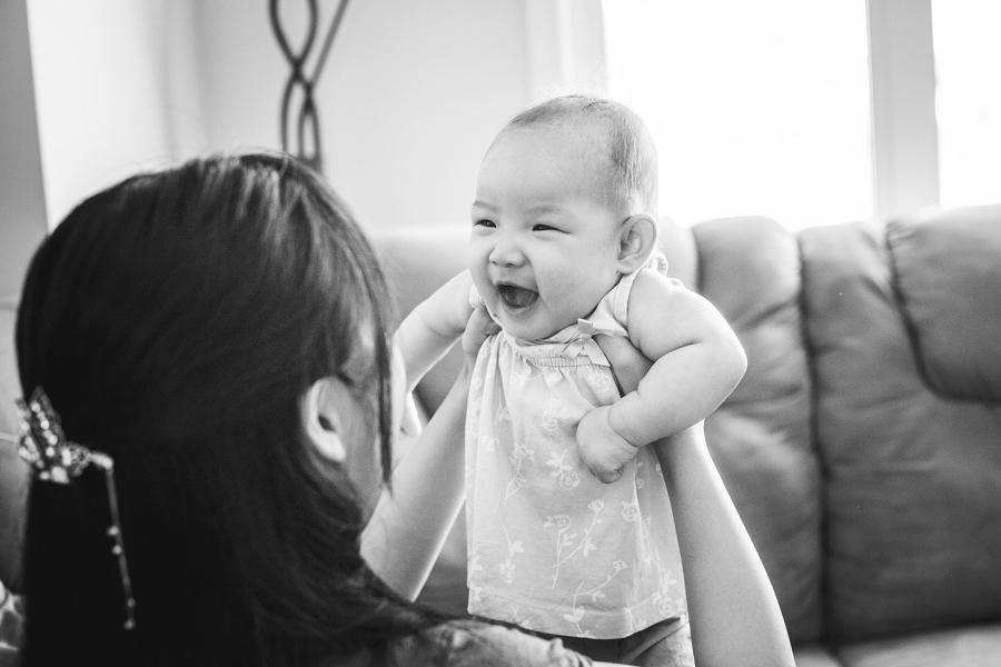 toddler smiling calgary family photography